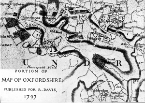Portion of Map of Oxfordshire