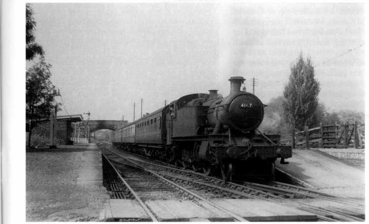 Princes Risborough-bound train at Wheatley, August 1959